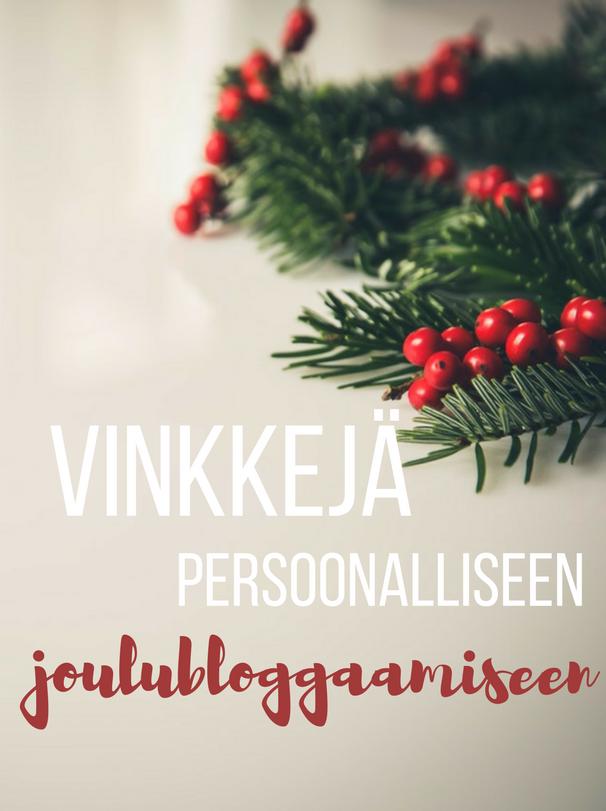 Onko mahdollista blogata persoonallisesti joulusta?