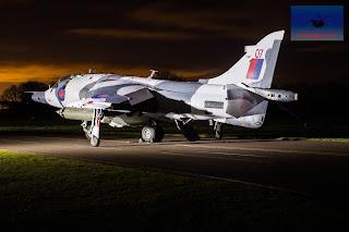 RAF Hawker Siddeley Harrier GR3 Winter camo XZ991 Cosford