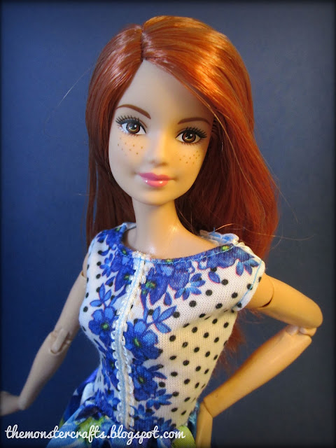 Barbie Made To Move redhead blue top review