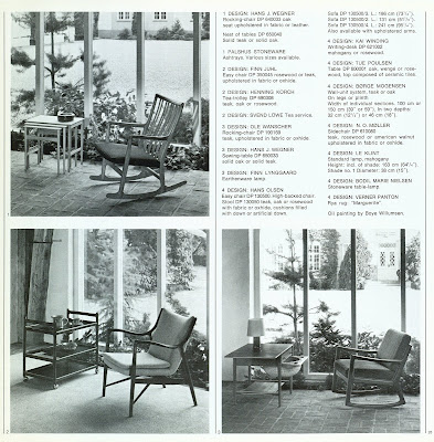 Den Permanente catalog 1972, lounge chair selections