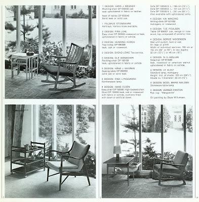 Den Permanente catalog 1972, lounge chair selections