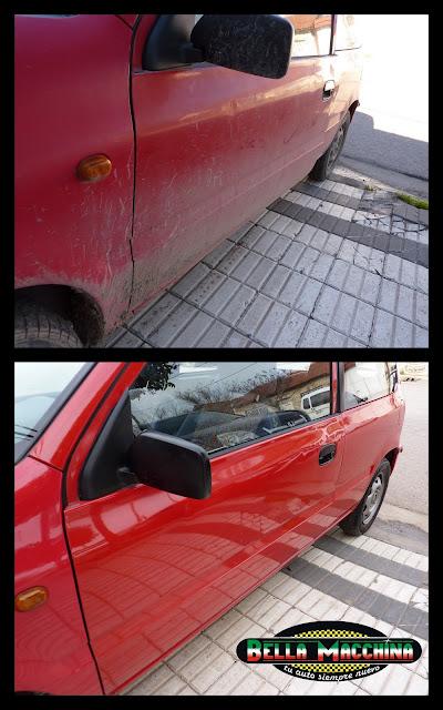 sistema de 2 baldes para lavar un auto