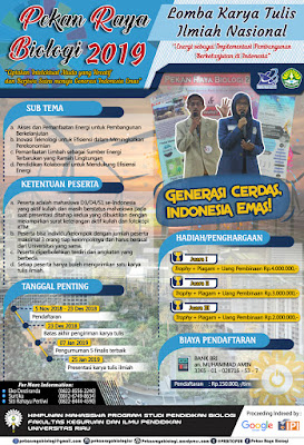 Lomba Karya Tulis Ilmiah Nasional 2019 di Universitas Riau