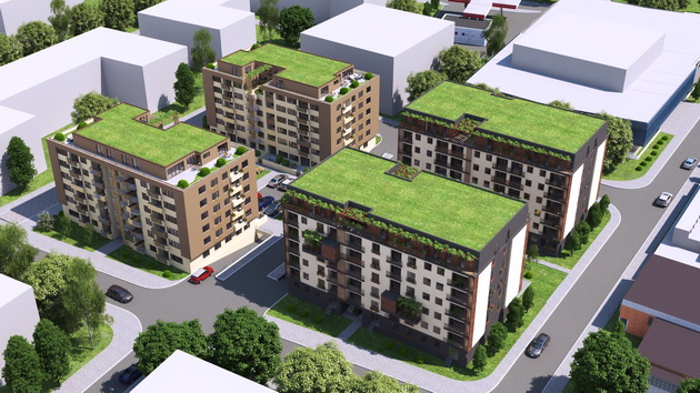 Neue Okö Siedlung Alexandria in Skopje