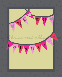 Be My Valentine Printable on { lilluna.com } Cute print to use as decor!