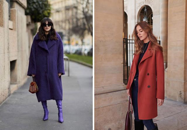 Девушки в синем пальто и пальто цвета ржавчины