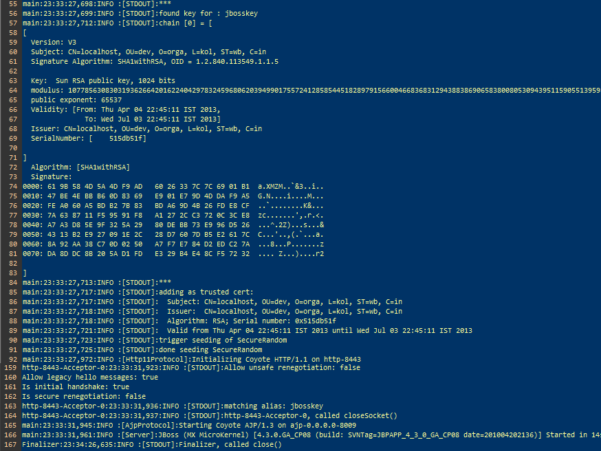 Kaustuvs Blog Jboss Tomcat Https Configuration
