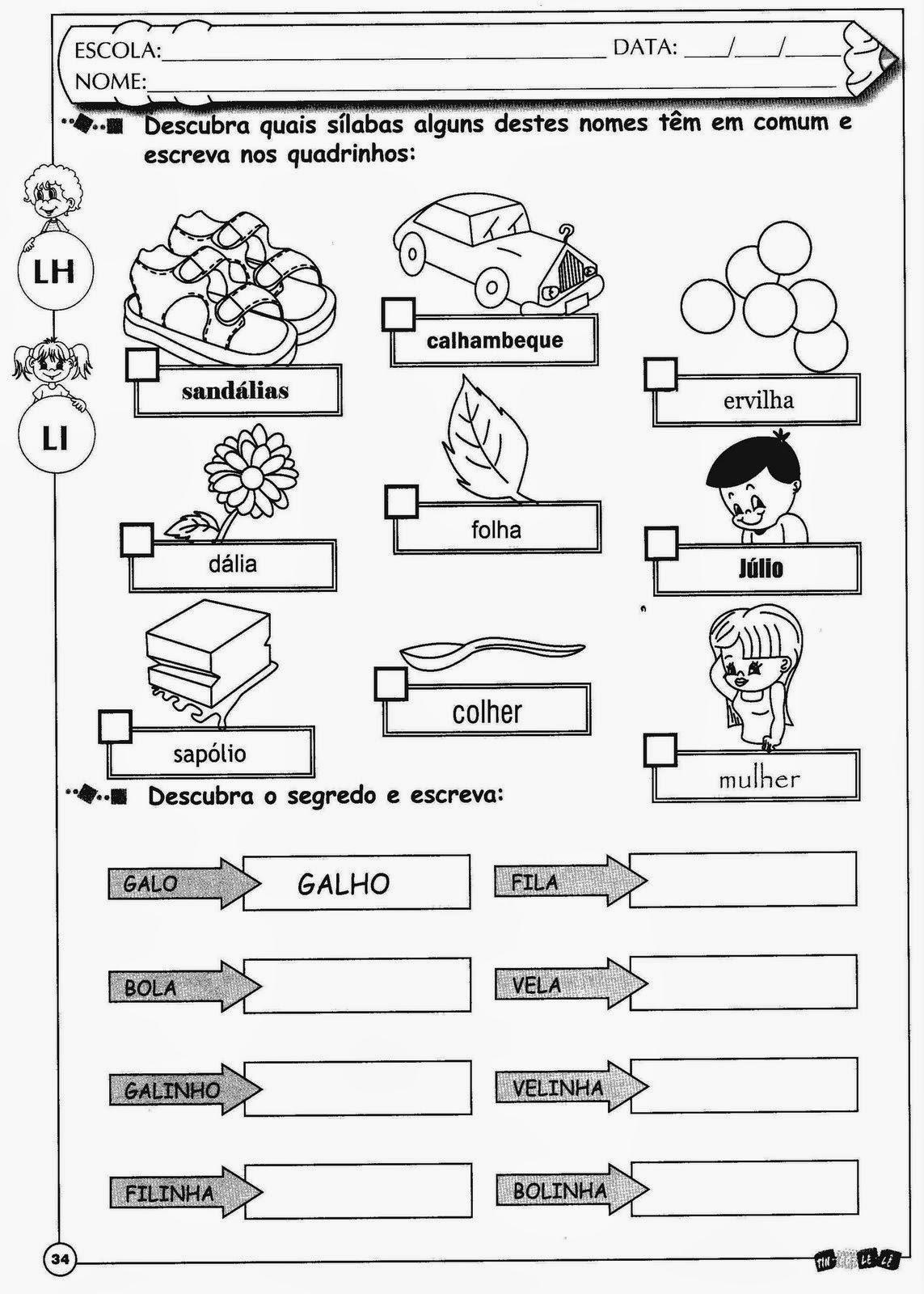 Atividade Para Imprimir Atividades De Portugues Para O 5