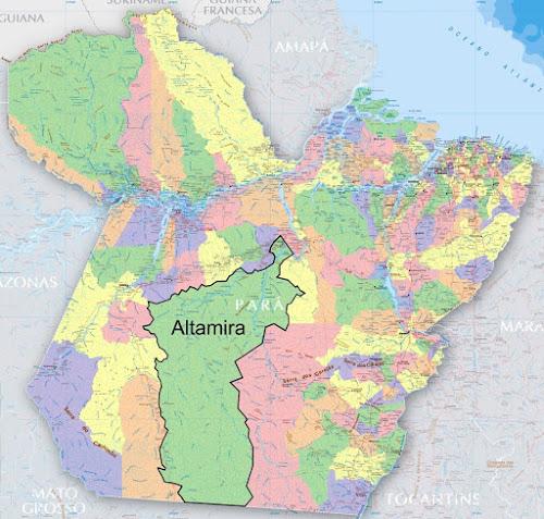 Mapa do município de Altamira - Pará