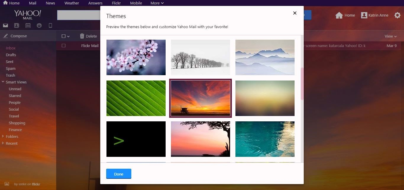 Flickr on Yahoo Mail
