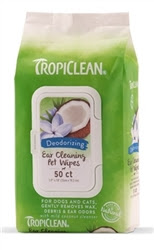TROPICLEAN EAR CLEANING WIPES FOR PETS (50 CT)