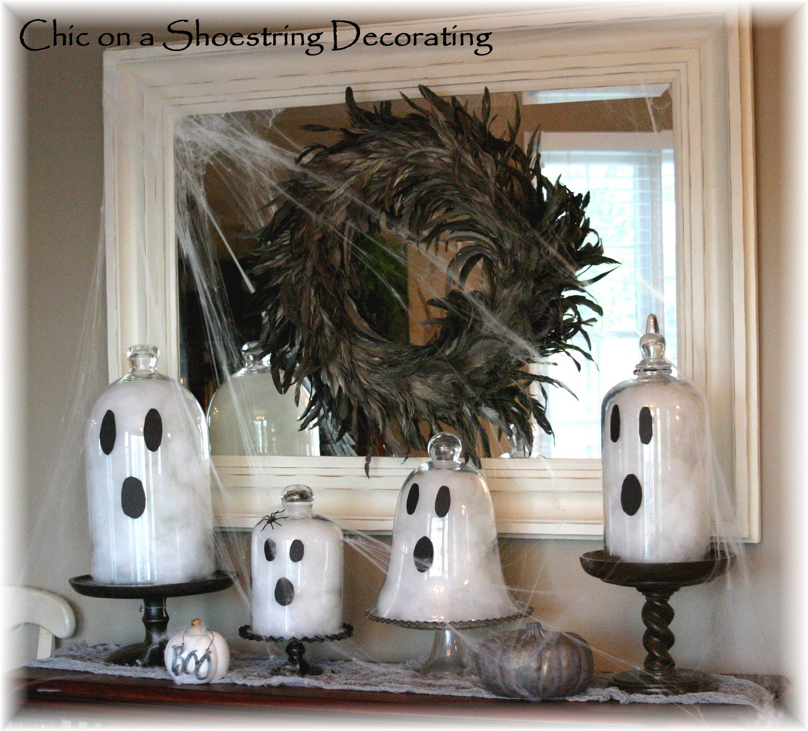 Halloween Chic Chic On A Shoestring Decorating Easy Halloween Ghost