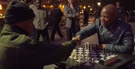 Un arnaqueur aux échecs contre Maurice Ashley