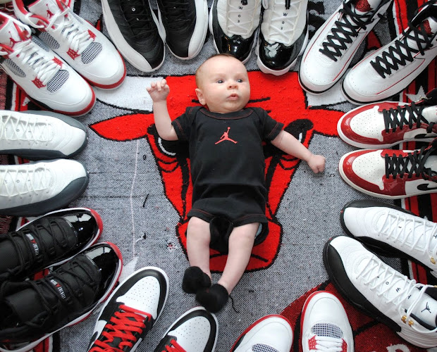 Babies Wearing Jordan's