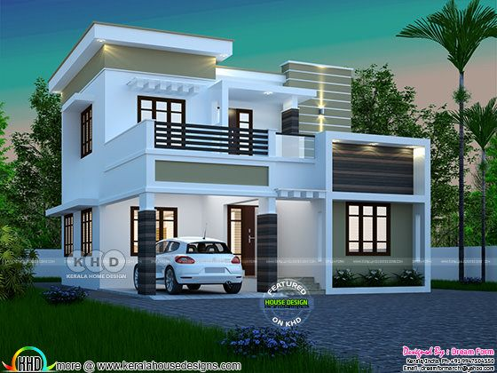 3 bedroom modern home design 1565 sq-ft