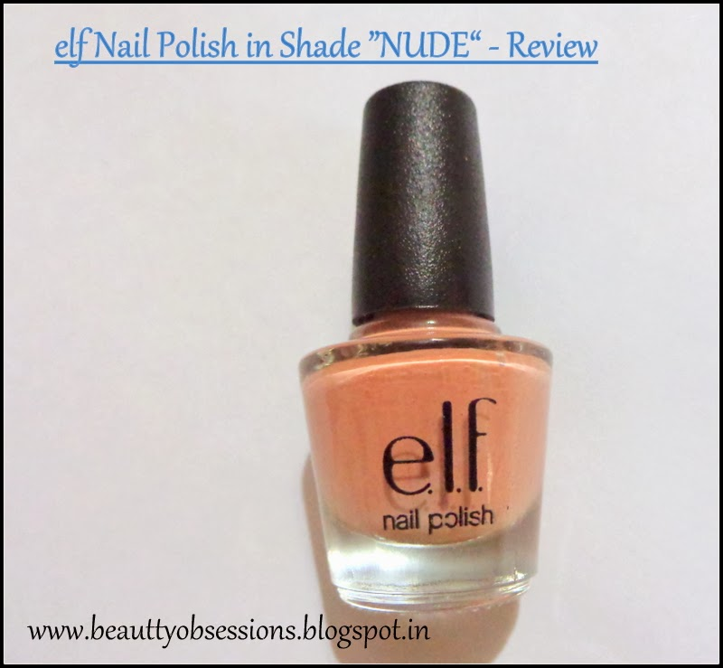 ELF Nail Polish in Shade Nude - a short review..