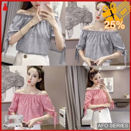 AFO388 Model Fashion Offshoulder Sabrina Modis Murah BMGShop