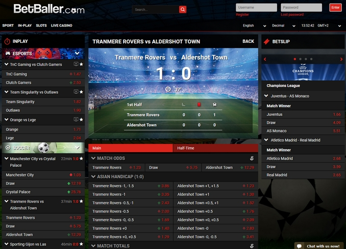 BetBaller Live Betting Screen