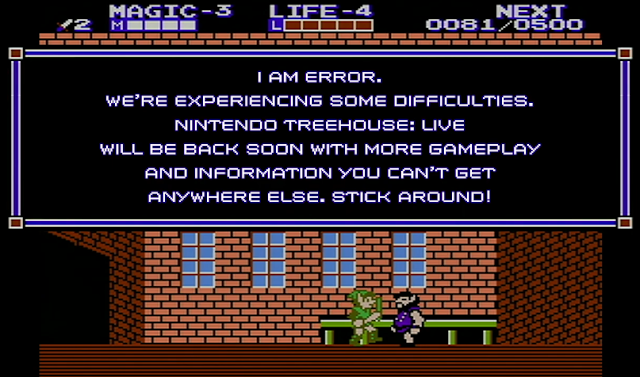 I AM ERROR Nintendo Treehouse Live E3 2019 The Legend of Zelda II Adventure of Link