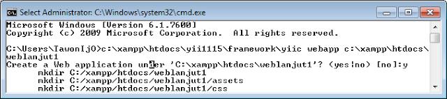 Model Generator dan CRUD Generator Yii Framework