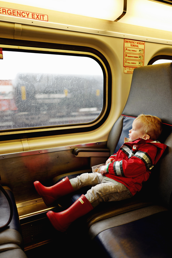 Little Cal-Train passenger