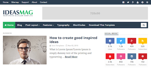 Ideas Mag Blogger Template Free Download