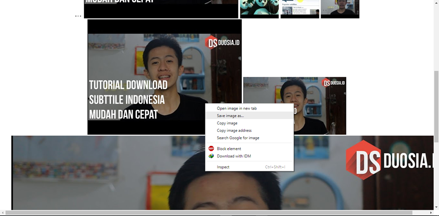 cara download gambar video youtube
