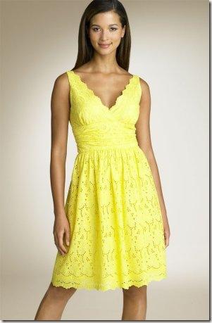 yellow dress-Knitting Gallery