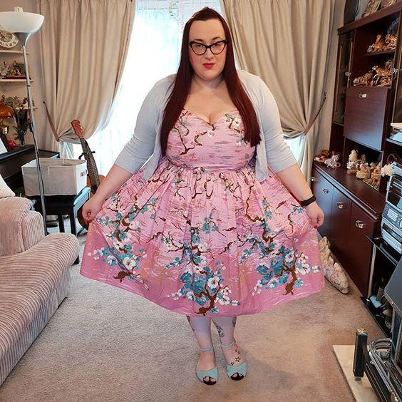 Hell Bunny Jenna Cherry Blossom Dress