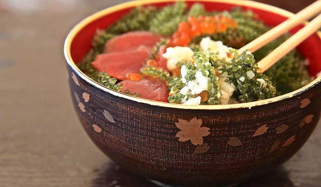 沖繩必吃海葡萄丼飯