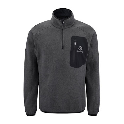 The Henri Lloyd Traverse Half Zip in Carbon.
