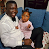 """The work ends when I get home"": Seyi Law says as he plays with his Daughter (Photos)"