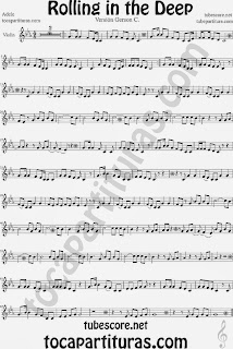 Rolling In The Deep  Partitura de Violín Sheet Music for Violin