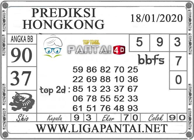 PREDIKSI TOGEL HONGKONG PANTAI4D 18 JANUARI 2020