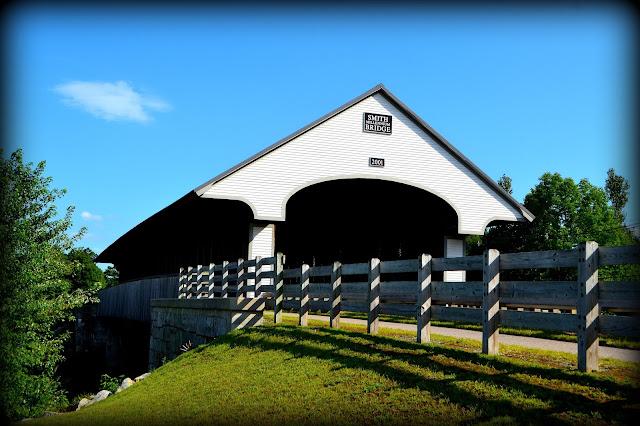 Smith Millennium Covered Bridge, Plymouth, New Hampshire, covered bridge, bridge, shadow