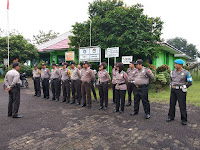 Usai Pemungutan Suara, Polres Lampung Utara Siagakan Anggota 24 Jam Jaga 23 PPK