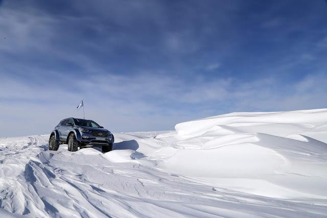 Hyundai realizou uma trilha na Antártida