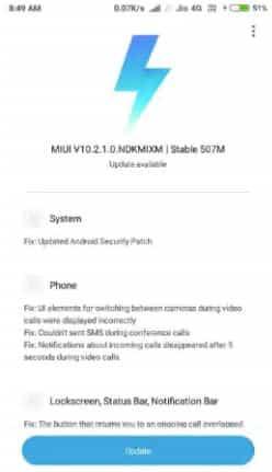Redmi Y1, Redmi Y1 Lite Receiving MIUI 10 2 1 0 Global Stable ROM