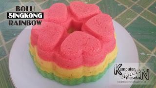 Resep Bolu Singkong Rainbow