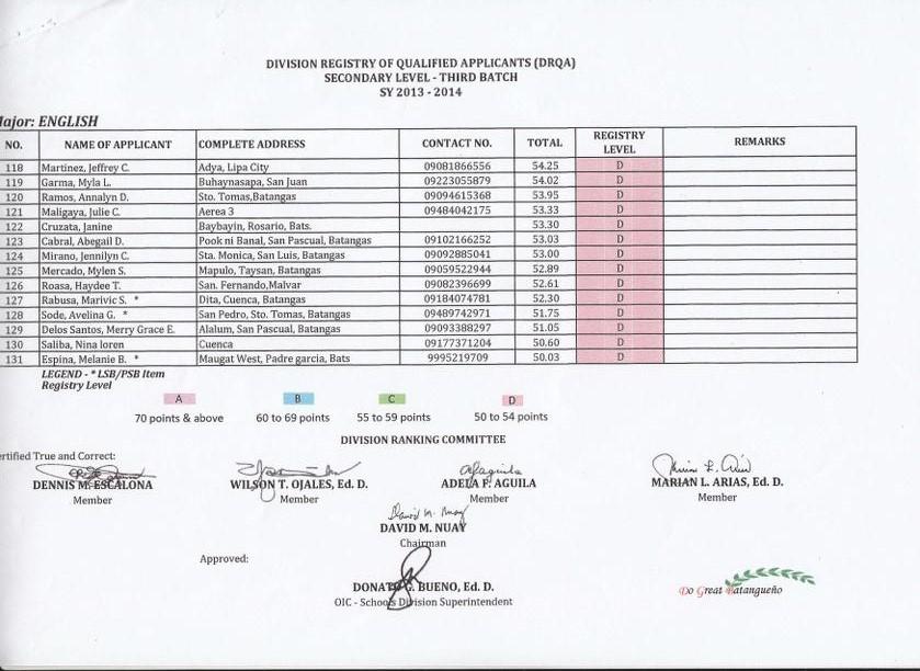 DepEd Memos, Orders & Results: June 2013
