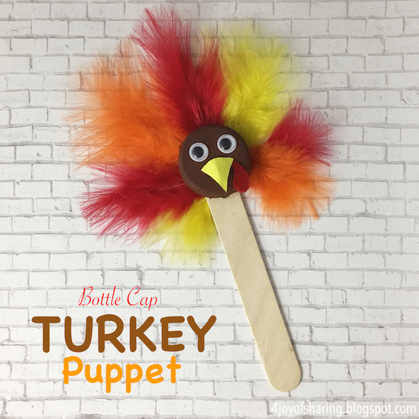 Thanksgiving Crafts Turkey Puppet Craft Recycled Upcycled