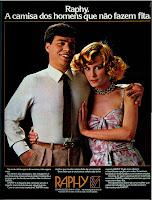 Anúncio Camisas Raphy de 1979. moda anos 70; propaganda anos 70; história da década de 70; reclames anos 70; brazil in the 70s; Oswaldo Hernandez