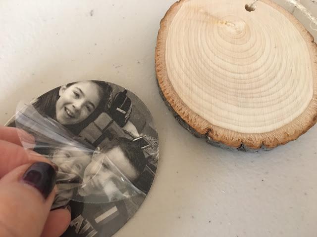 print and cut, silhouette studio, tattoo paper, wood slice ornaments, gift ideas