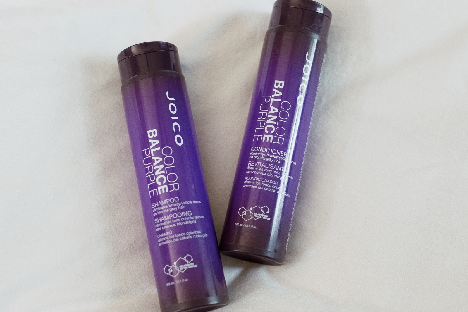 Joico purple shampoo & conditioner - great for toning blonde hair