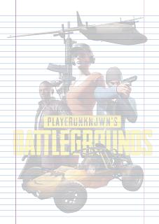 Folha Papel Pautado Battlegrounds modelo 10 PDF para imprimir folha A4