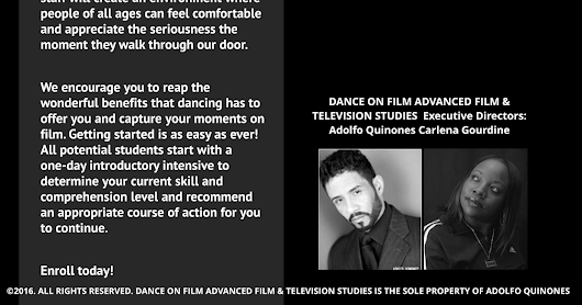 Dance On Film Advance Film & Television Studies ~ Learning Institute 4 the Urban Arts™