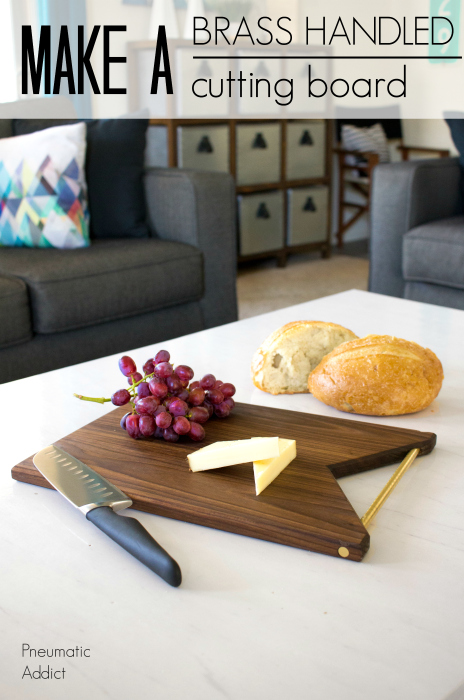 easy simple mothers day gift idea walnut brass cutting serving board modern geometric