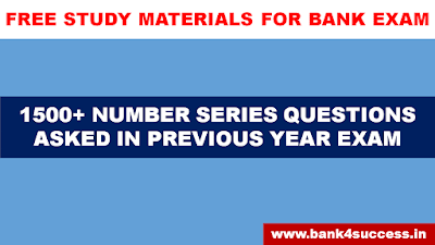 1500+ Number Series Asked in Previous Year Bank Exam pdf free download
