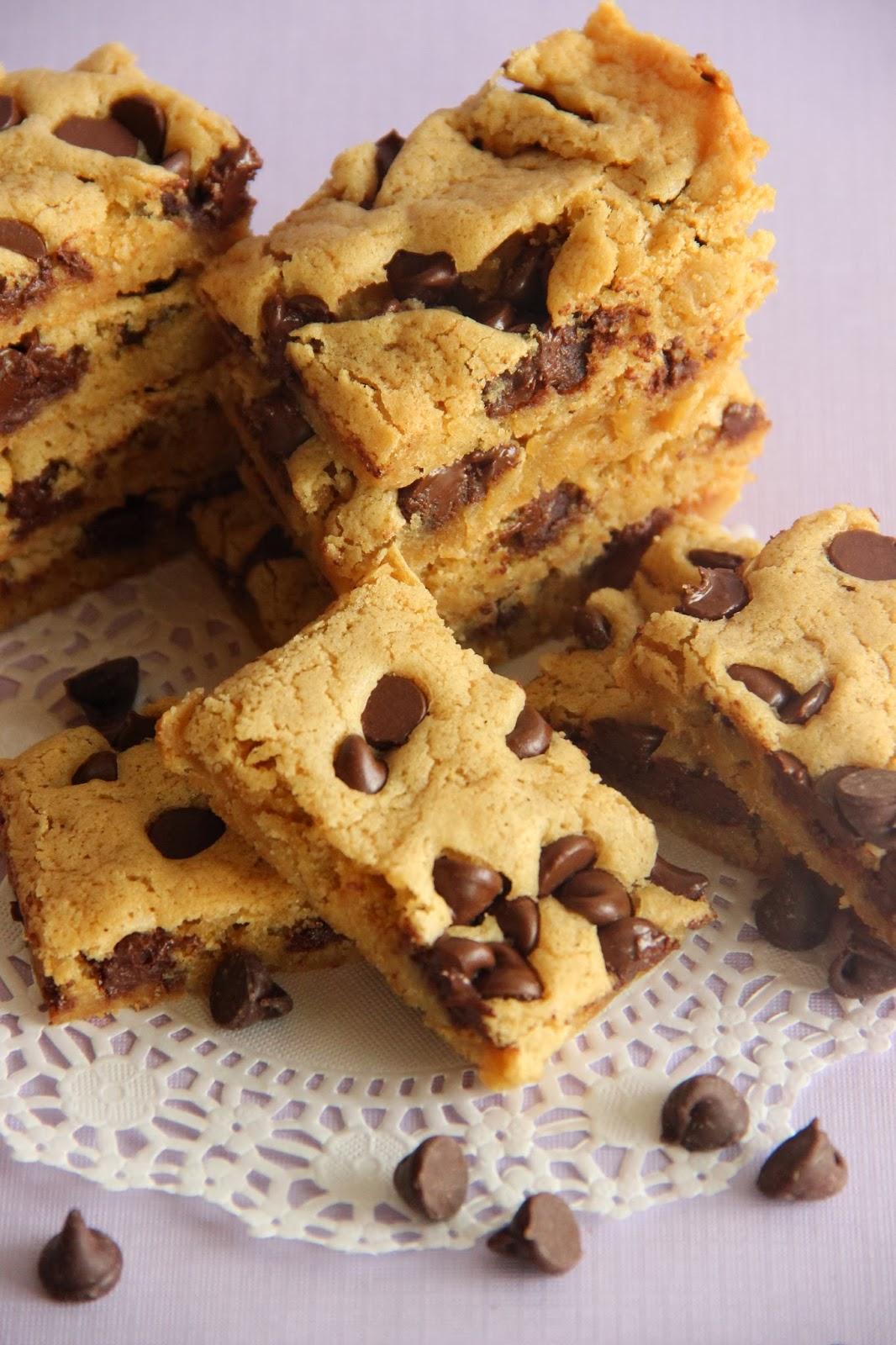 Gooey Brown Sugar Chocolate Chip Bars Diary Of A Recipe