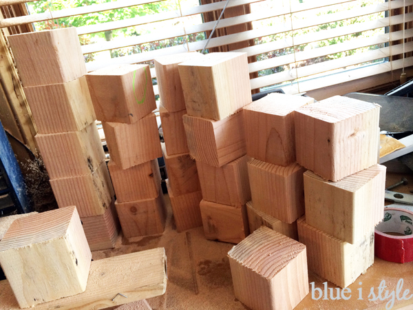 Wood blocks for yard dice